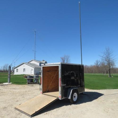 Trailer - Gate Open - Antenna Mount